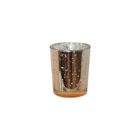 Gold mercury votive 7x6cm